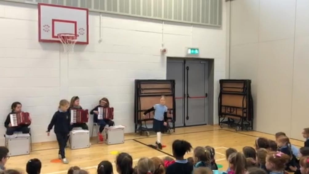 Irish dancing at our latest assembly